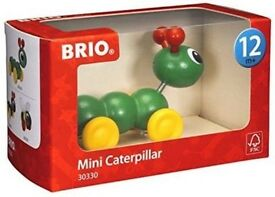 Brand new in box BRIO mini caterpillar - wooden toys 12months