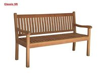 Brand new beautiful Teak handmade unopened bench (unwanted gift) still in original wrapping