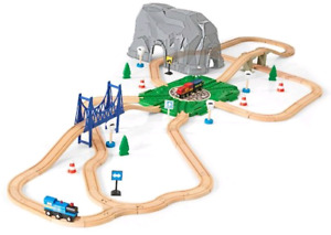 Wooden train - Imaginarium 72 Piece Big Mountain Train Set