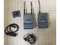 Sony Radio Lapel Mic Set- For Broadcast. Receiver & Transmitter UTX-B1 & URX-P1