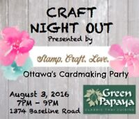 Craft Night Out: Ottawa's Cardmaking Party