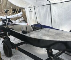 10ft aluminum boat/seaflea with motors trailer and accessories