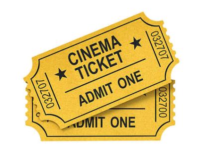 Movie ticket for 2 Adult +1 kid