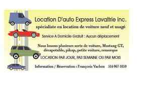 Location d'auto express Lavaltrie