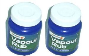 VAPOUR RUB / CHEST RUB / MENTHOL RUB 2 large tubs