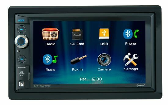"Dual XVM286BT Double Din 6.2"" LCD Touchscreen Car Stereo Receiver (Renewed)"