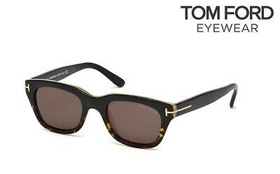 TOM FORD SNOWDON James Bond FT 0237 05j 50 Black /& Havana Roviex Grey Brown