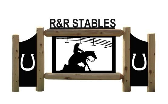PERSONALIZED HORSE SIGNS - EQUESTRIAN - FARM AND RANCH - RODEO SIGN