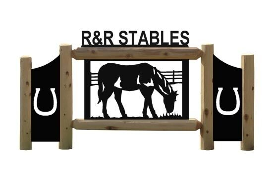 HORSES - CLINGERMANS OUTDOOR HORSE SIGN - EQUESTRIAN - FARM AND RANCH