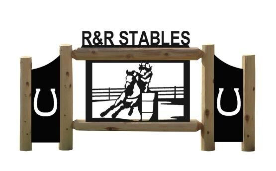 PERSONALIZED HORSES - RODEO HORSE SIGNS - EQUESTRIAN - FARM AND RANCH