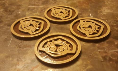 Polynesian Themed Tiki Coasters - Set of 4