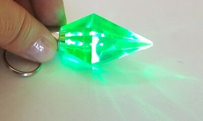 NEW The SIMS  Light Up Glowing Green Emerald Jewel Key Chain