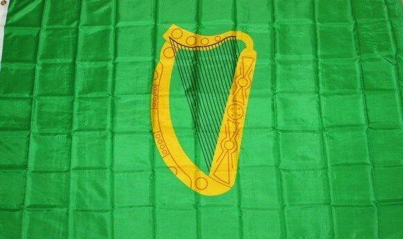 NEW 3x5 IRISH PROV LEINSTER IRELAND HARP FLAG better quality usa seller
