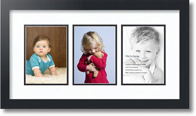 """ArtToFrames Collage Mat Picture Photo Frame - 3 5x7"""" Opening"""
