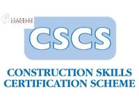 Free CSCS (Construction Skills Certification Scheme) card, training and work Course