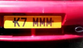 Private number plate k7 mmm