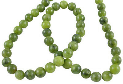 50 x Dainty Olive TaiWan Jade 4mm Round Gemstone Beads