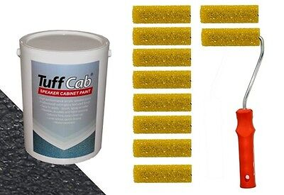 Tuff Cab Speaker Refurb Kit - includes paint and textured rollers