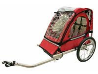 Single Buggy Child Bike Trailer RED, Cycle Trailer - 3607