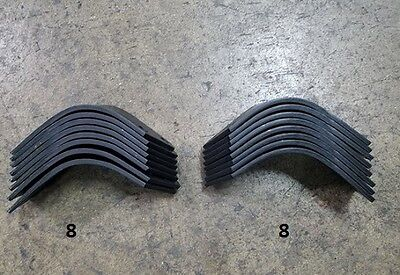 8 Each Lh Rh Tiller Tines For Befco T30 Series Tiller 003-0104s 003-104d