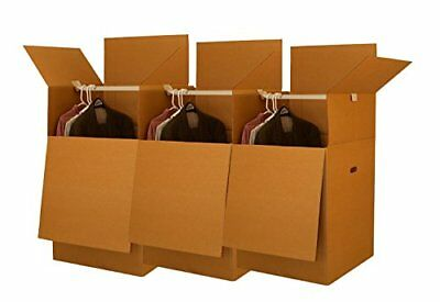 Uboxes Larger Wardrobe 24 X 24 X 40-inches Moving Boxes Bundle Of 3 Boxbundwar03