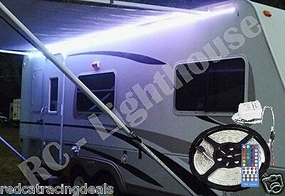 RV Awning Camper 12ft RGBW+W Color Changing LED Strip Light Kit, Dual Lights