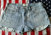 Light Blue High Waisted Levi Shorts