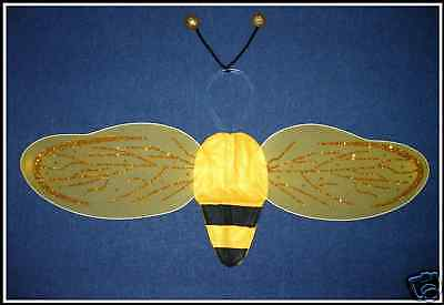 BEE WINGS W/ANTENNA~*~2pcs set~*~BEE COSTUME DRESS UP (Bee Wings)