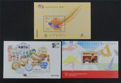 nystamps Macao Stamp # 824//848 Mint OG NH $31   L23y3396