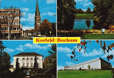 Krefeld - Bockum , Ansichtskarte, beschriftet
