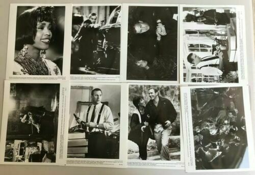 THE BODYGUARD 8 Authentic 8x10 Publicity Photos Whitney Houston Kevin Costner