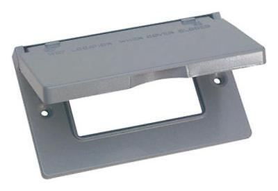 Sigma Electric 14249 Horizontal Gfci Outlet Box Cover 1 Gang Gray
