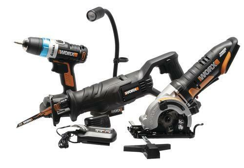 Set of 4 Handy Portable 20V Lithium Ion Cordless Drill Saw F