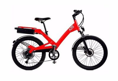 RED A2B *SHIMA* ELECTRIC BIKE 500 WATTS! 28 MPH! 20 INCH FRAME! FAST!!