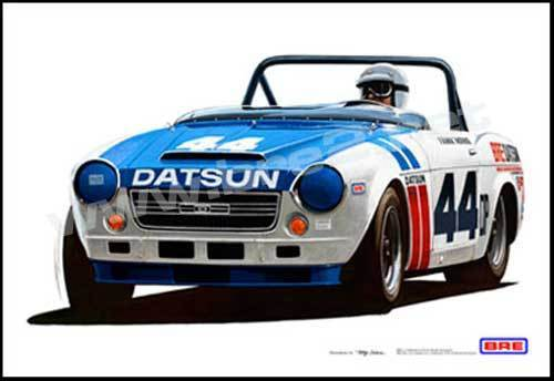 "SIGNED! Championship #44 BRE Datsun Roadster  (19""x13"") sold by Peter Brock BRE!"