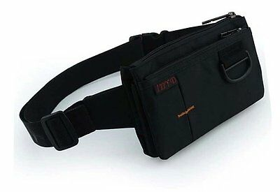 Sport Polyester Stealth Small Running Waist Bag Fanny Pack Camping Hiking Black