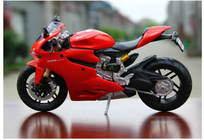 Maisto 1/12 Ducati 1199 Motorcycle Vehicle Model Red Diecast Motorbike Toy Gift