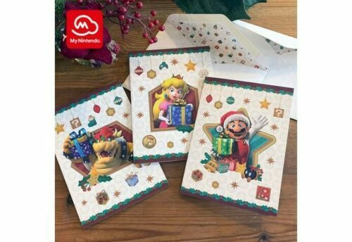 Super Mario Christmas Holiday Cards My Nintendo EXCLUSIVE SEALED Bowser Peach