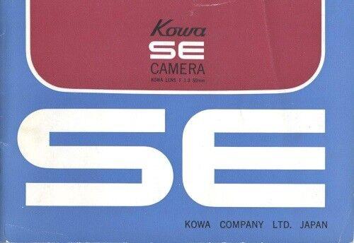 Kowa SE Kowaflex SE Instruction Manual