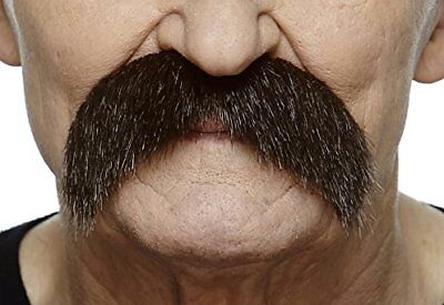 Mustaches Self Adhesive, Novelty, Walrus Fake, Brown Color (Mustache Novelties)