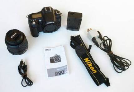 Nikon D90 DSLR with Nikon 18-55 lens - top camera
