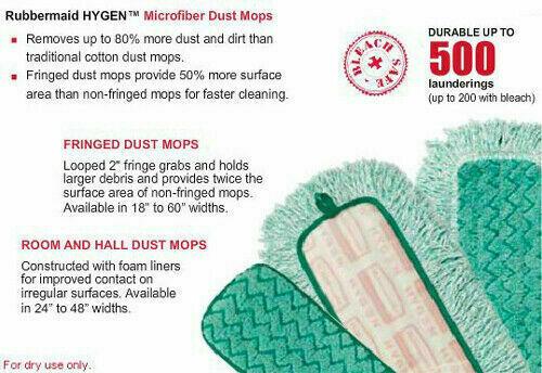 Rubbermaid Hygen Q418 Commercial Microfiber Dust Pad 18