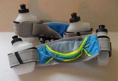 Nike Hydration Gürtel 4 Wasserflasche Blau Glühend / Volt Herren Damen Osfm (Nike Gürtel Wasser)