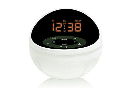 Nexus Soothing Sounds Alarm Clock with Color Display