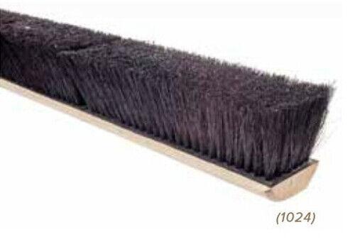 """Magnolia Brush #1024 24"""" Push Broom Floor Sweep Black Tampico Fiber Head"""
