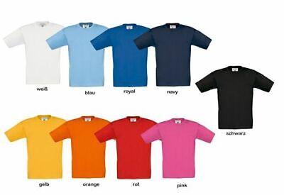 Kinder BASIC T-Shirt Baumwoll Shirt Rundhals Ausschnitt viele Farben