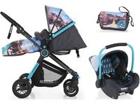 Stunning Travel System / Pram with upstart infant car seat. AS NEW £150***