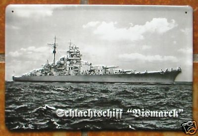 SCHLACHTSCHIFF BISMARCK - BLECHSCHILD, DEUTSCHLAND 2.WK