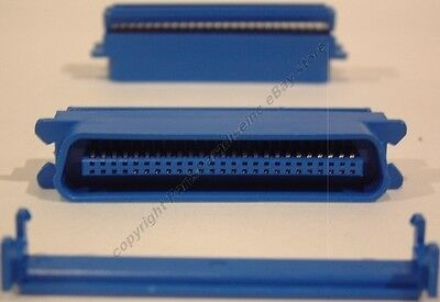 Male CENTRONICS 50pin/wire SCSI ribbon cable Crimp IDC End/Connector PC/MAC/SUN for sale  Shipping to India