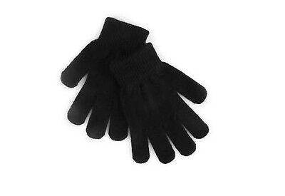 ANGEBOT HANDSCHUHE WOLLE SCHWARZ STRETCH HERREN FRAU KIND JUNGE (Schwarze Handschuhe Kind)